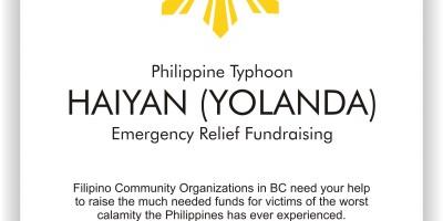 Philippine Typhoon HAIYAN (YOLANDA) Emergency Relief Fundraising