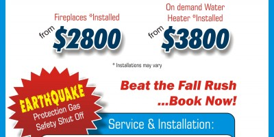 HEATING FOR THE COLD WEATHER! Book Now and Beat the Fall Rush!
