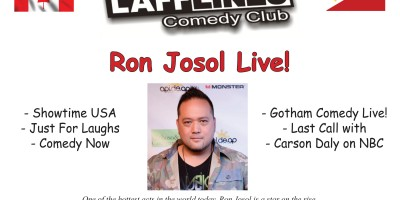 RON JOSOL LIVE June 18, 19, 20 at Lafflines Comedy Club!
