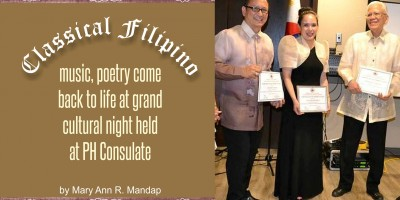 Classical Filipino music, poetry come back to life at grand cultural night held at PH Consulate by Mary Ann R. Mandap
