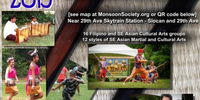 Southeast Asian Cultural Arts Festival SEACAF 2015, August 8th at Slocan Park, Vancouver, BC