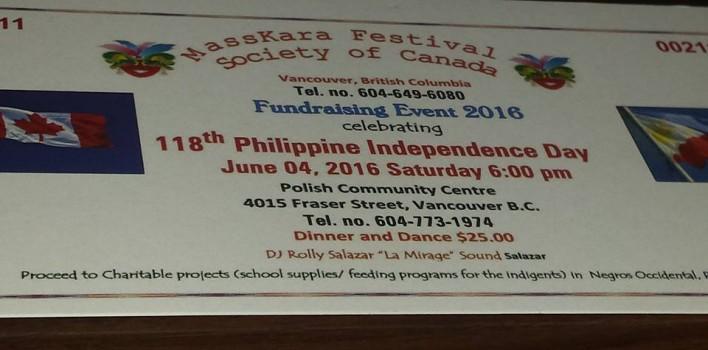 Masskara Festival Society Canada PHILIPPINE DAY CELEBRATION
