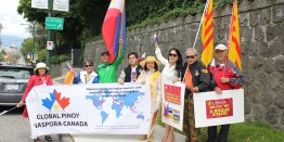 Vancouver Pinoys rally to celebrate decision against China