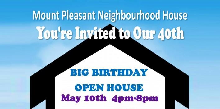 Mount Pleasant Neighbourhood House's 40th Anniversary